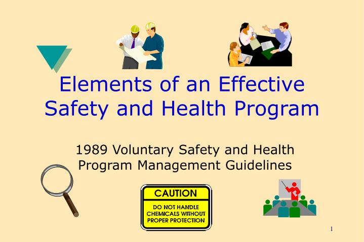 elements of an effective safety and health program n.