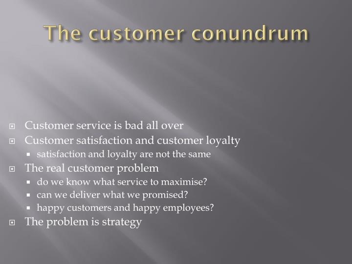 Customer service is bad all over