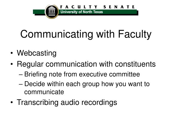 Communicating with Faculty
