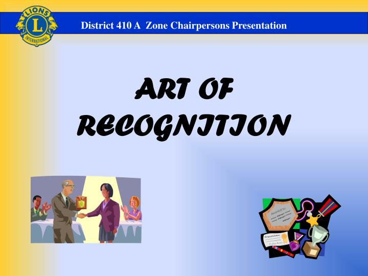 art of recognition n.
