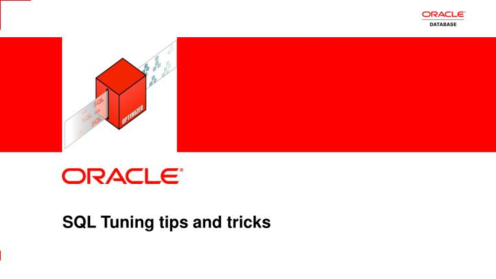 sql tuning tips and tricks n.
