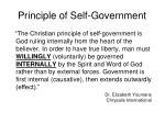 principle of self government