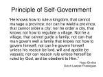 principle of self government1