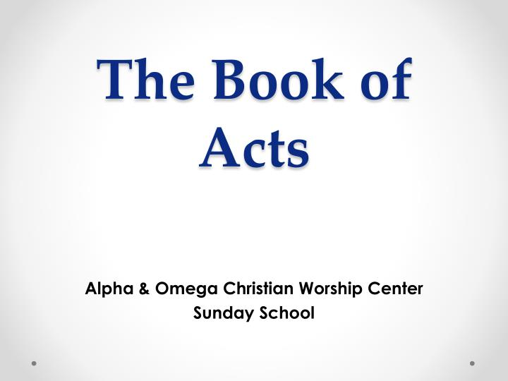 the book of acts n.
