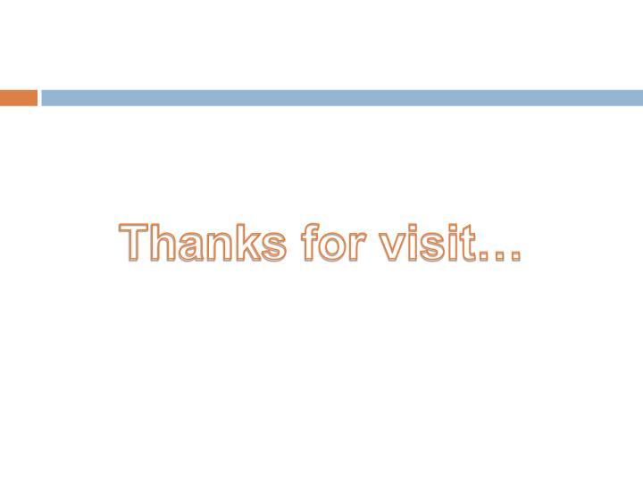 Thanks for visit…