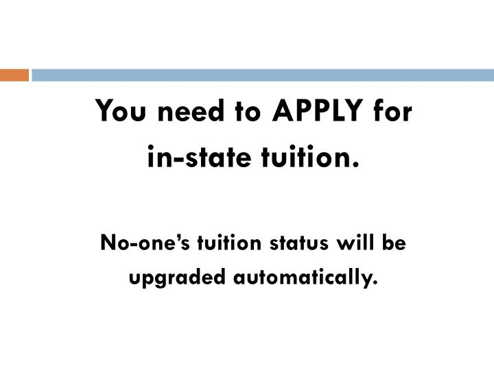 You need to APPLY for