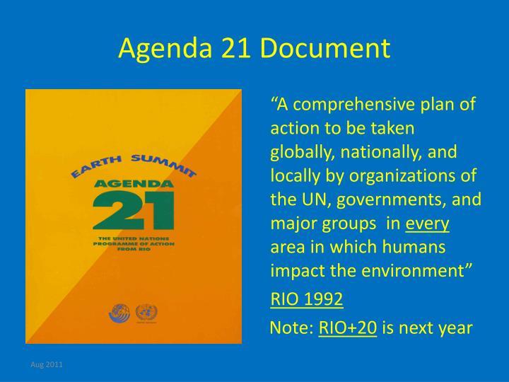 Agenda 21 Document
