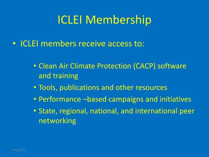 ICLEI Membership