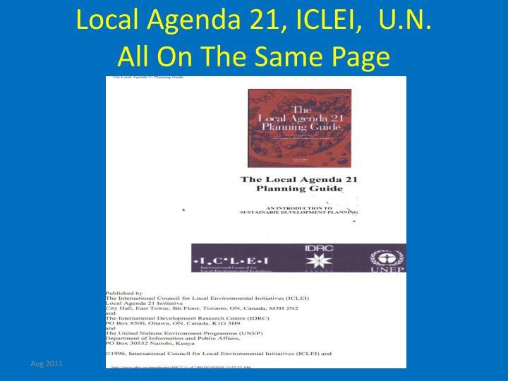 Local Agenda 21, ICLEI,  U.N.