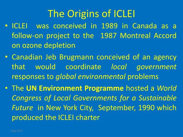 The Origins of ICLEI