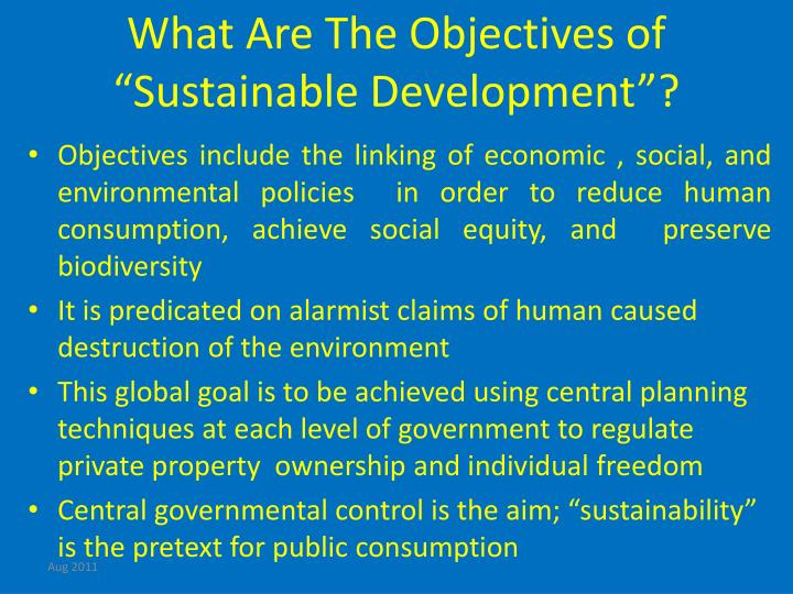 """What Are The Objectives of """"Sustainable Development""""?"""