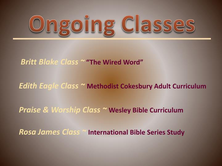 Ongoing Classes