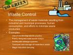 waste control