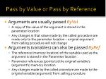 pass by value or pass by reference