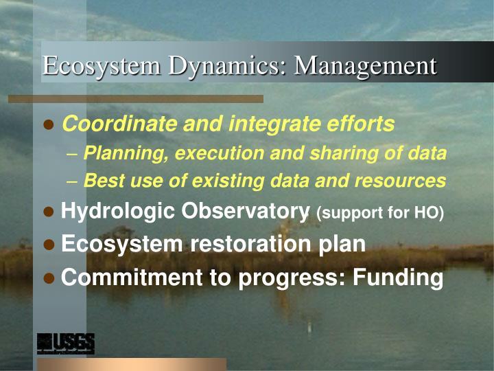 Ecosystem Dynamics: Management