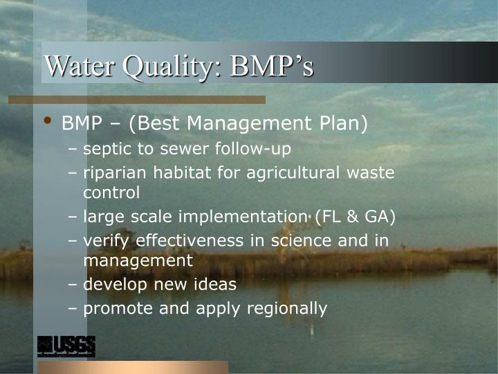 Water Quality: BMP's