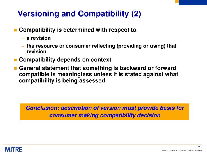 Versioning and Compatibility (2)