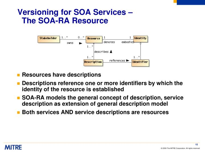 Versioning for SOA Services –