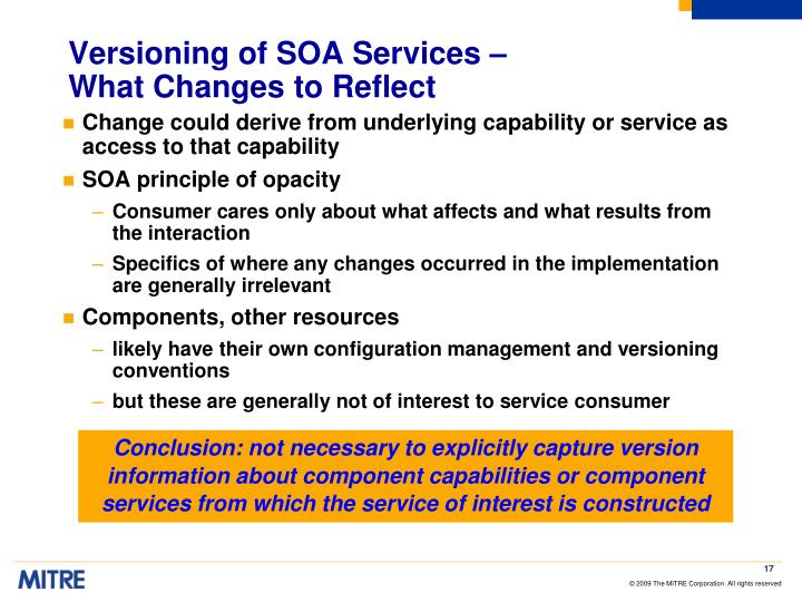 Versioning of SOA Services –