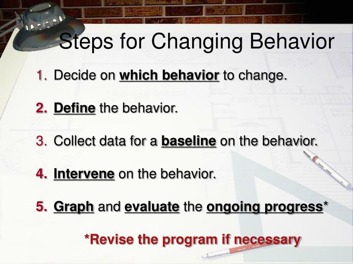 Steps for Changing Behavior