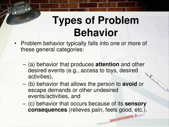 Types of Problem Behavior