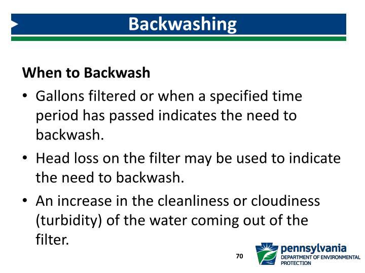 Backwashing