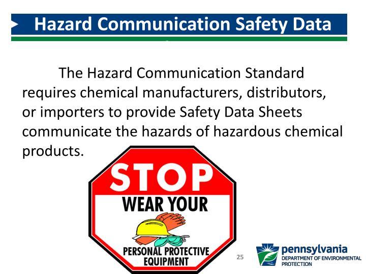 Hazard Communication Safety Data Sheets