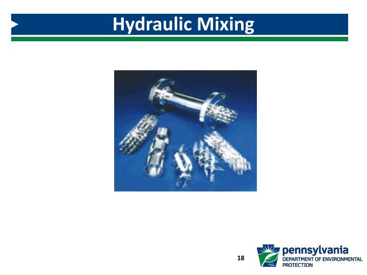 Hydraulic Mixing