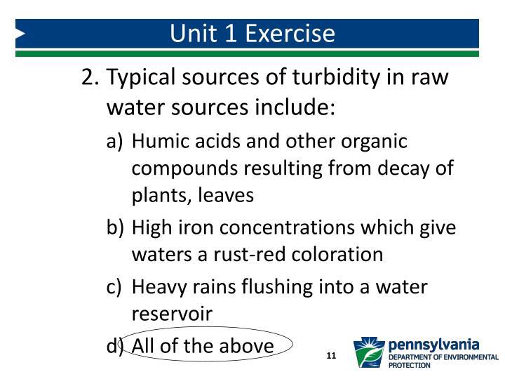 Unit 1 Exercise