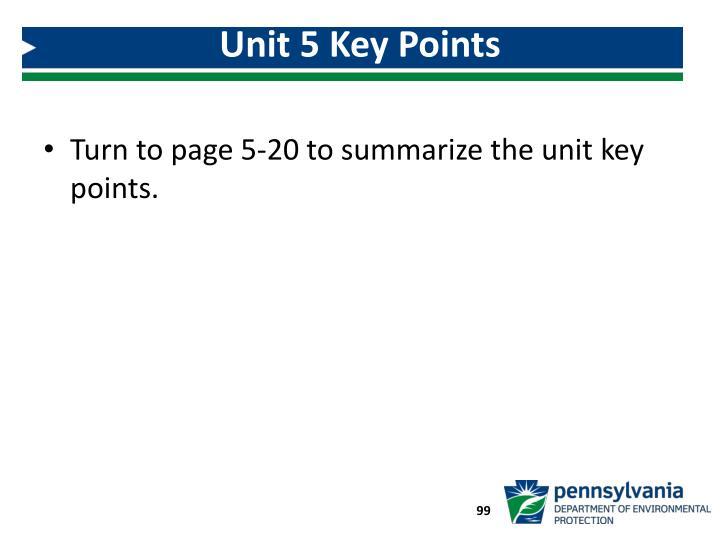 Unit 5 Key Points