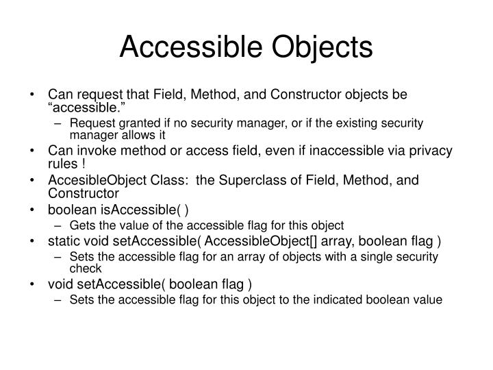 Accessible Objects