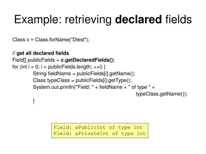 Example: retrieving
