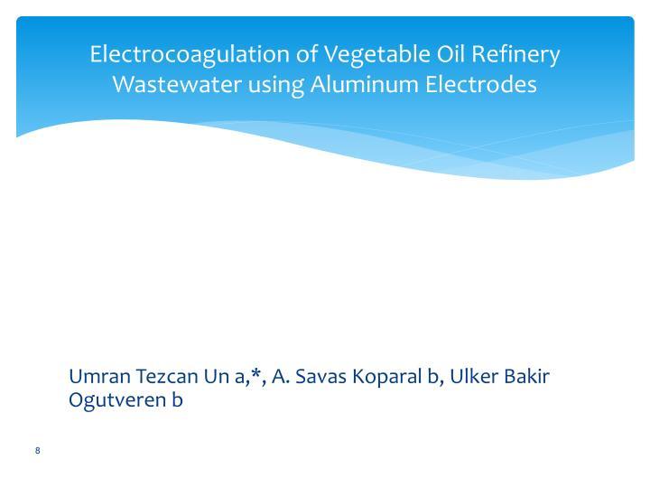 Electrocoagulation of