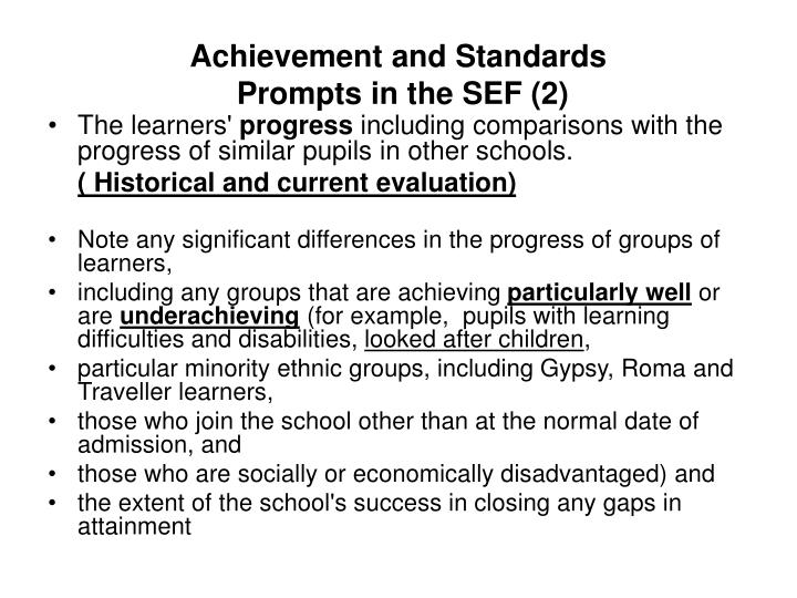 Achievement and Standards