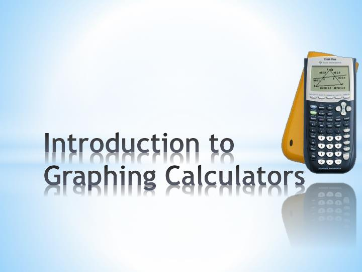 introduction to graphing calculators n.