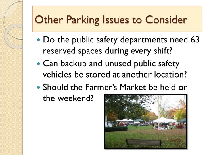 Other Parking Issues to Consider