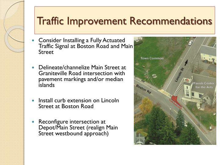 Traffic Improvement Recommendations