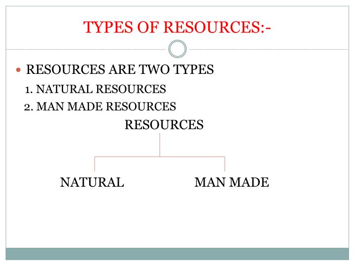 two types of natural resources