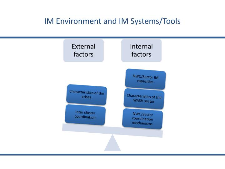 IM Environment and IM Systems/Tools