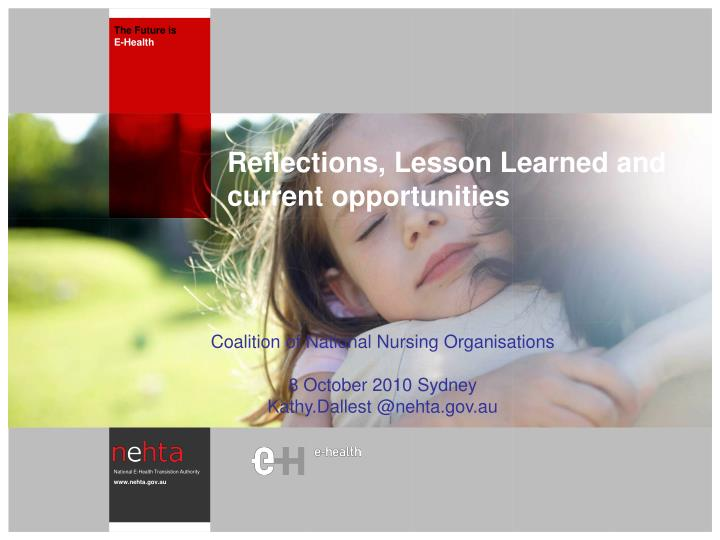reflections lesson learned and current opportunities n.