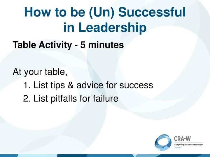 How to be (Un) Successful