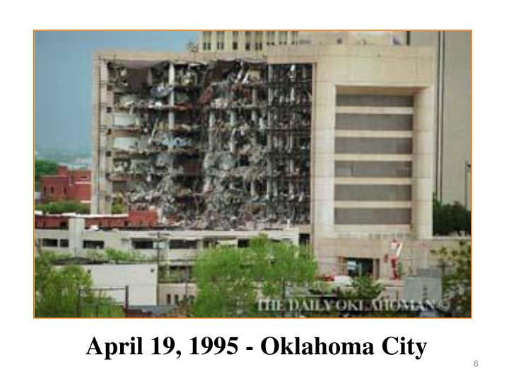 April 19, 1995 - Oklahoma City