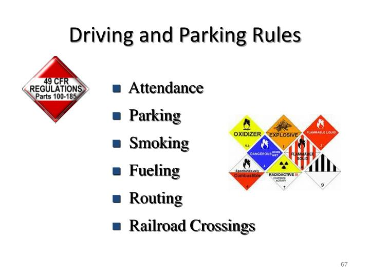 Driving and Parking Rules