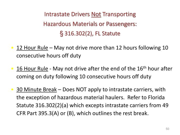Intrastate Drivers