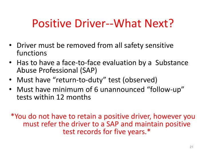 Positive Driver--What Next?