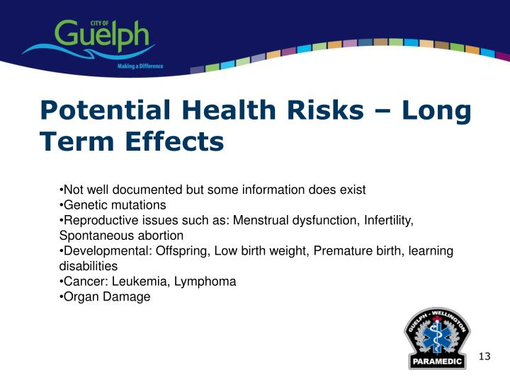 Potential Health Risks – Long Term Effects