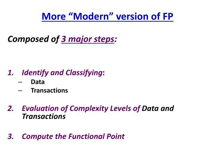 More modern version of fp