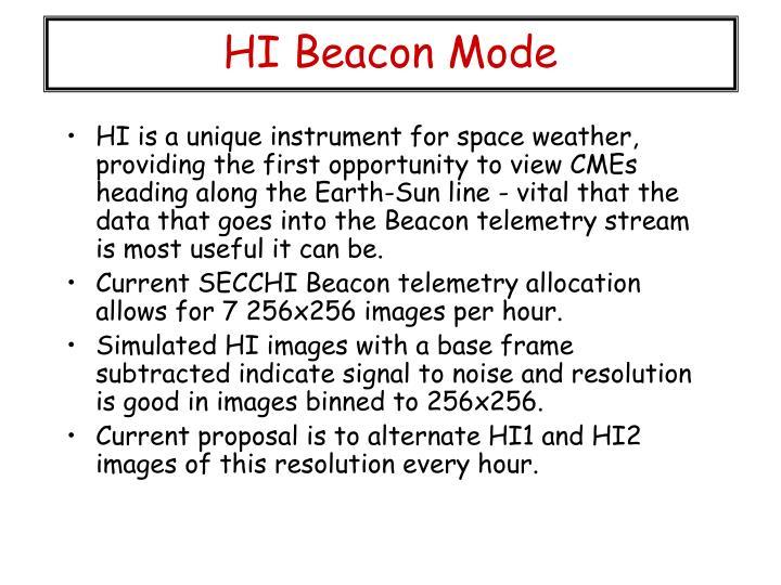 HI Beacon Mode