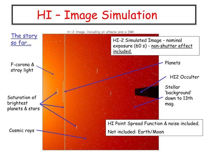 HI – Image Simulation