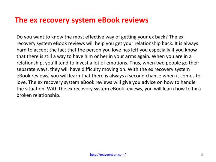 The Ex Recovery System Ebook Reviews